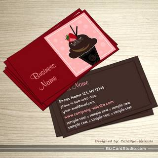 Creative Cupcake Business Card