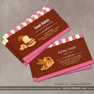 Sweet Bakery Shop - Breads Rolls Toasts Dessert Business Card