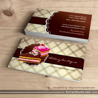 Bakery or cake boutique business cards
