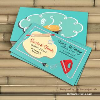 Retro Bakery Cookie Business card Bread Back