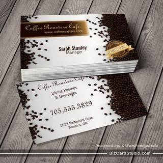 Bakery business card templates studio organic coffee house cafe restaurant business card wajeb Images
