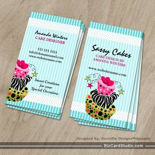 Bakery business card templates studio for Cake business card ideas