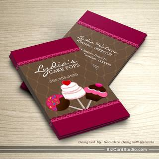 Bakery business card templates studio cake pops bakery business cards fbccfo Gallery
