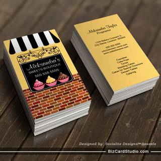 Cupcake Bakery Boutique Business Cards