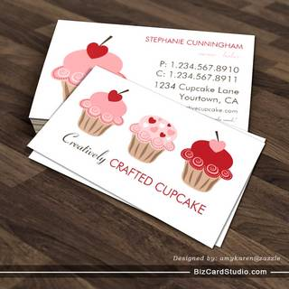 Bakery business card templates studio sweet cupcakes business card template cheaphphosting Image collections