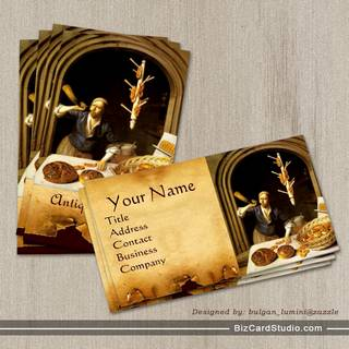 ANTIQUE OVEN  BAKER ,BAKERY BREAD SHOP BUSINESS CARD TEMPLATES