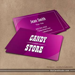 Classy Violet Curves Candy Store Business Card