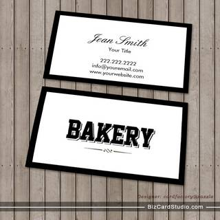 Modern Bold Border Bakery Business Card