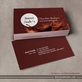 Modern Chocolate Splash Business Card