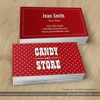 Sweet Star Patterns Candy Store Business Card