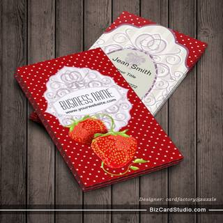 Tasty Strawberries Business Card