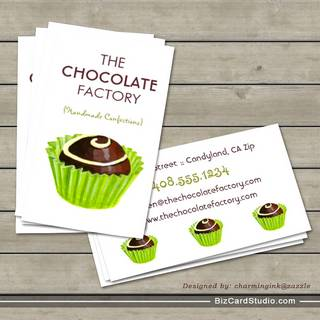 Bakery business card templates studio chocolate truffle illustration business cards colourmoves