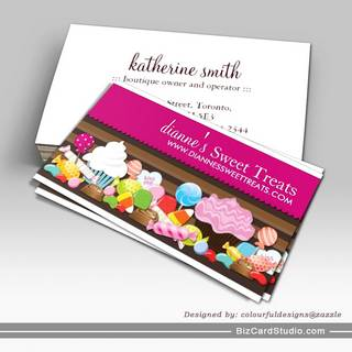 Cute and Sweet Confection Business Cards