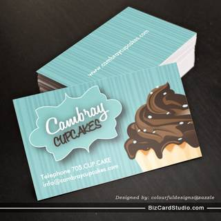 Bakery business card templates studio pretty cupcake business card wajeb Images