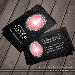 Sophisticated Bakery & Cupcake Business Card