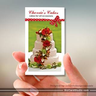 Wedding Cake Designer Business Cards