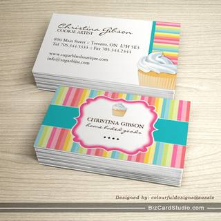 Bakery business card templates studio whimsical cupcake business cards colourmoves