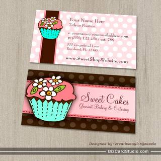 Cute cupcake baker business card template business card customize bakery business card templates studio cupcake business card template cheaphphosting Image collections