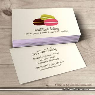 Bakery business card templates studio french macarons business card template colourmoves