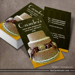 elegant chocolate wedding cake business cards