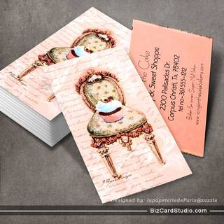 Pink Cupcake Bakery Business Profile Card Business Card