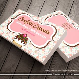 Confetti Cupcake & Bundt Cake Business Cards