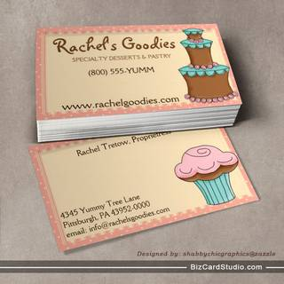 Whimsical Bakery Business - Profile Card Business Card