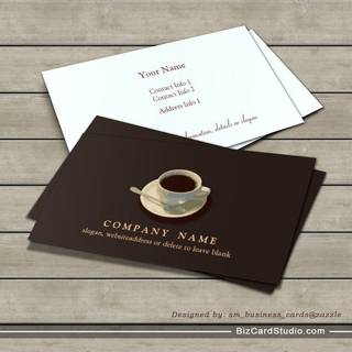 Coffee Cup Business Card