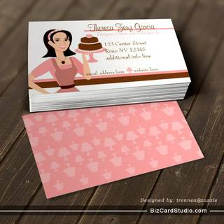 Designer Bakedgoods-Cake Business Card Template