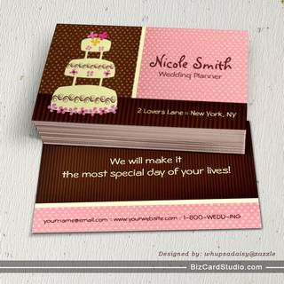 Wedding Planner/Wedding Coordinator Business Card