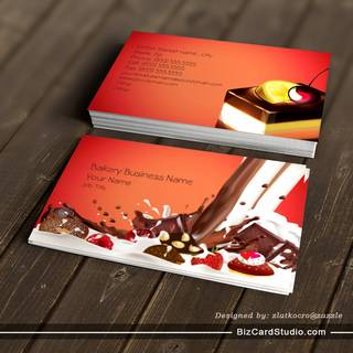 Bakery Cakes Business Business Card