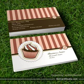 Retro Sweet Cupcake Bakery Business Card