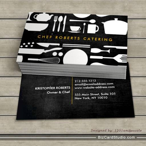 Black and white kitchen collage no 4 business card template colourmoves