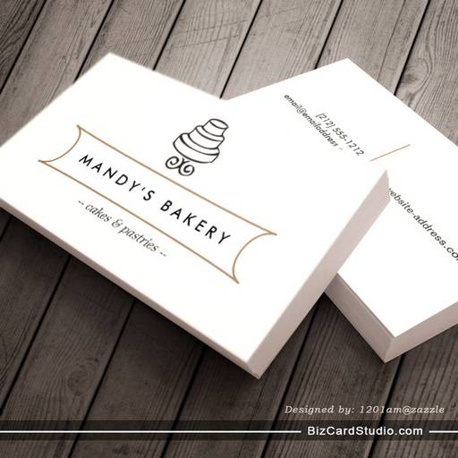 VINTAGE CAKE LOGO I for Bakery, Cafe, Catering Business Card Templates