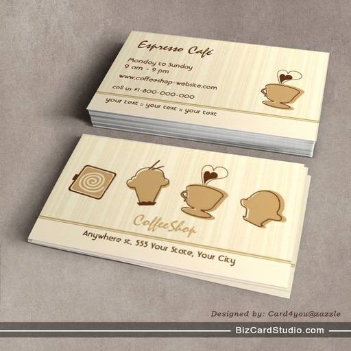 Trendy Coffee Business Card