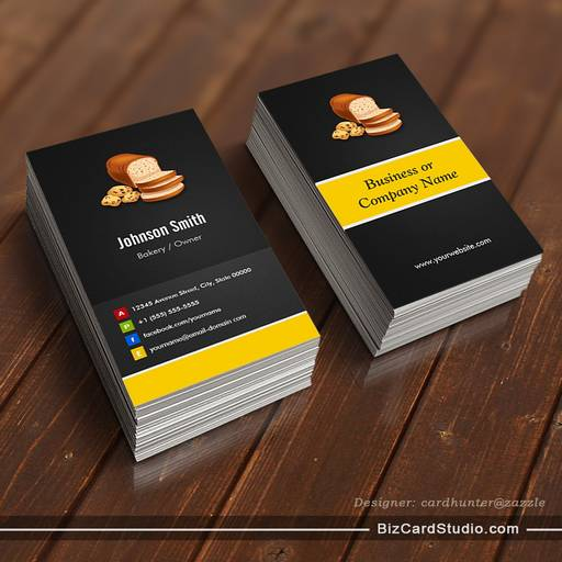 Breads Toast Bakery Baker - Creative Innovative Business Card