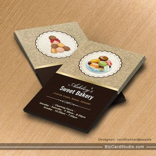 Sweet Bakery Boutique - French Parisian Macaroons Business Cards