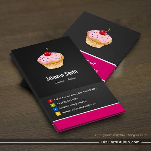 Sweet cupcakes bakery creative innovative business cards colourmoves