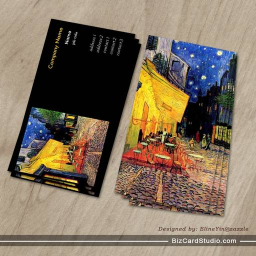 the cafe terrace on the place du forum, Arles, at Business Card Template