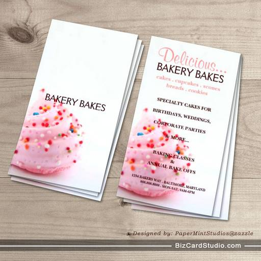 Business Card | Bakery |bluepink