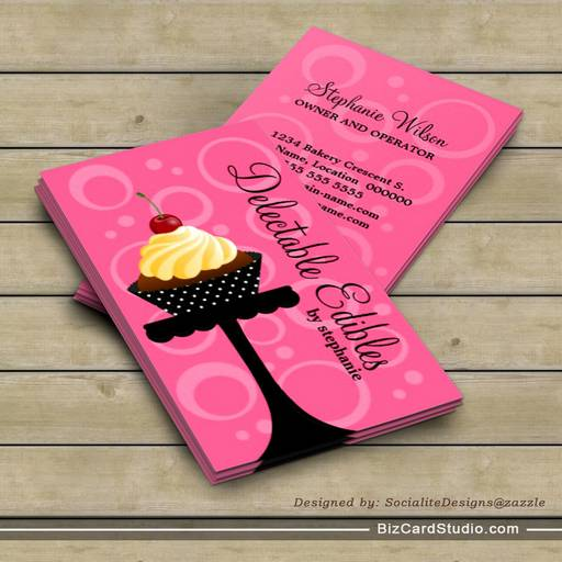 Cakes And Cupcakes Business Cards