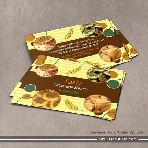 Arabic / Lebanese Bakery Business Card