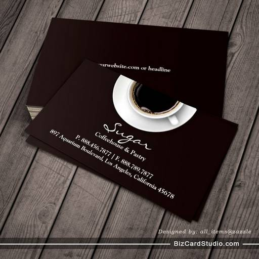 Business card templates studio coffee business card coffee business card wajeb Choice Image