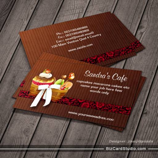cafe bakery sweets shop business card
