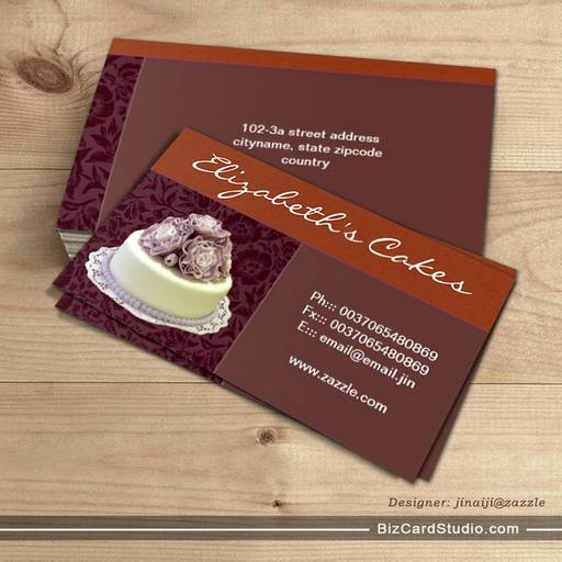 Cakes bakery business cards