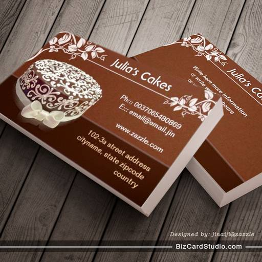 cakes bakery ornate business cards
