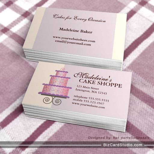 Business card templates studio elegant cake on blue custom bakery elegant cake on blue custom bakery business card cheaphphosting Choice Image