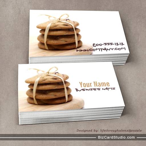 Business card templates studio chocolate chip cookies business cards chocolate chip cookies business cards colourmoves