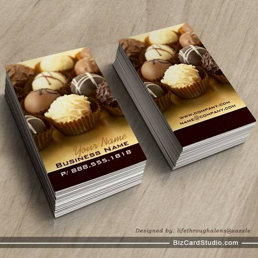 Chocolate truffles business cards colourmoves