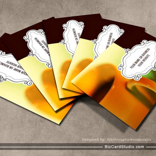 Coffee Shop Business Cards {Brown}
